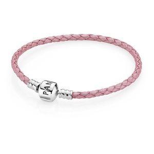 Pandora Pink single leather bracelet
